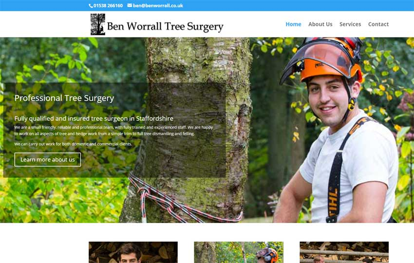 Ben Worrall Tree Surgeon website