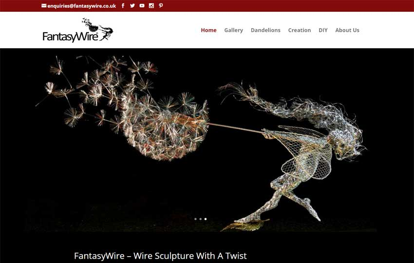 Fantasy Wire Sculptures website