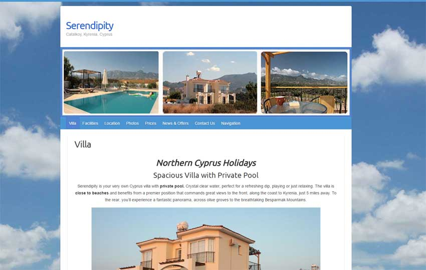 Serendipity Villa website