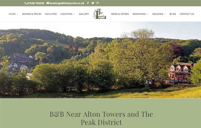 The Laurels B&B website