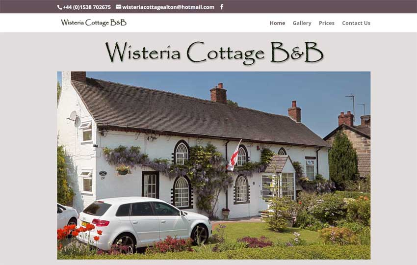 Wisteria Cottage B&B website
