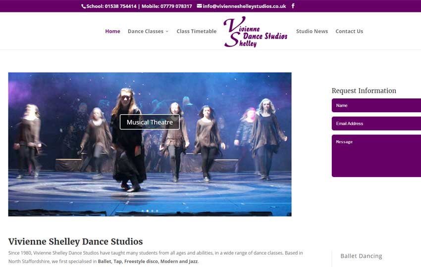 Vivienne Shelley Dance Studios website